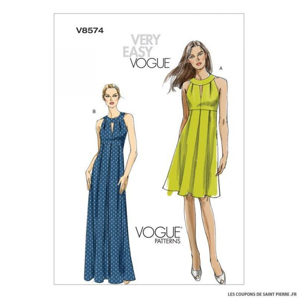 Patron Vogue V8574 : Robe