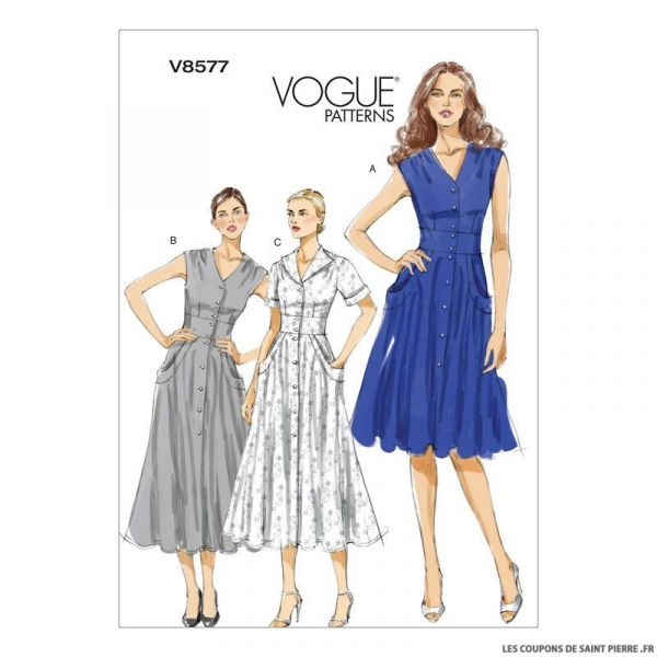 Patron Vogue V8577 : Robe