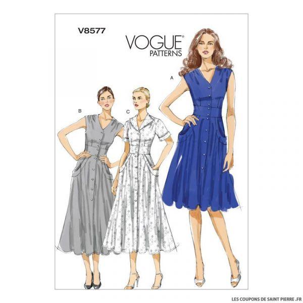 Patron Vogue V8577 : Robe
