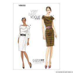 Patron Vogue V8630 : Robe