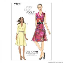 Patron Vogue V8646 : Robe