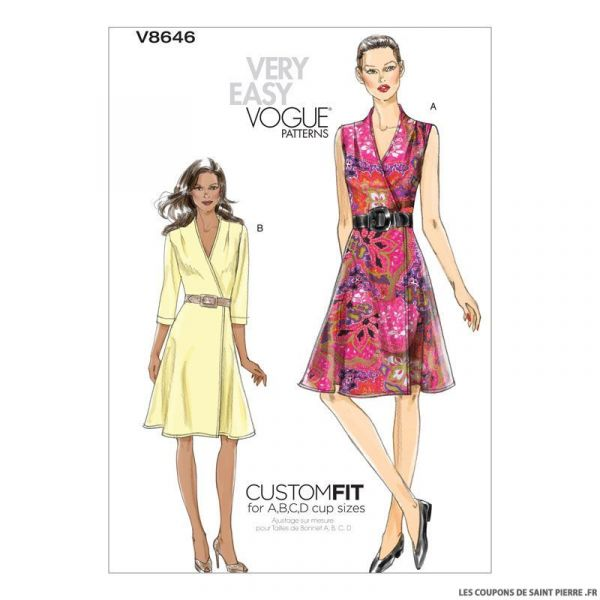 Patron Vogue V8646 : Robe