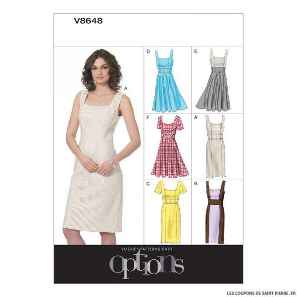 Patron Vogue V8648 : Robe