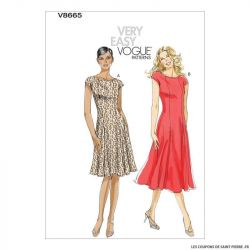 Patron Vogue V8665 : Robe