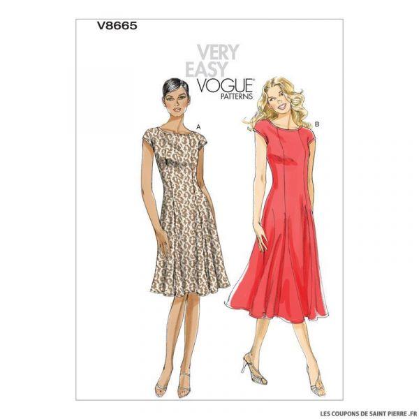 Patron Vogue V8665 : Robe