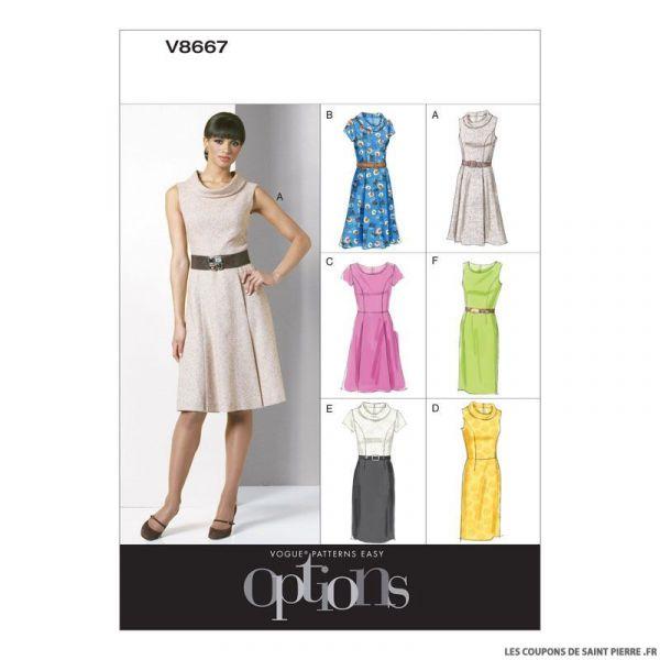 Patron Vogue V8667 : Robe