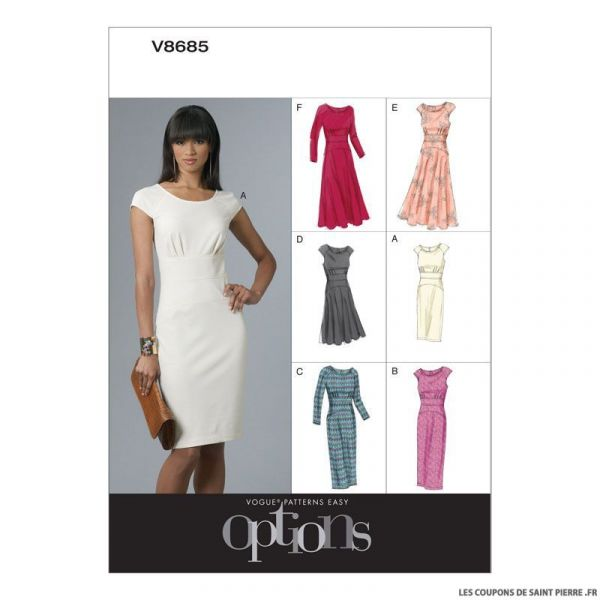 Patron Vogue V8685 : Robe