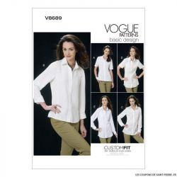 Patron Vogue V8689 : Chemise