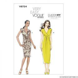 Patron Vogue V8724 : Robe