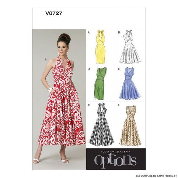 Patron Vogue V8727 : Robe