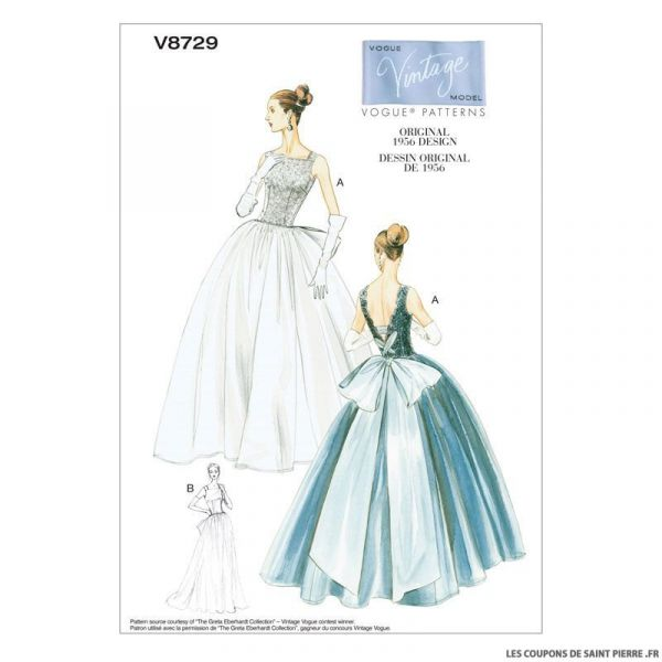 Patron Vogue V8729 : Robe et jupon