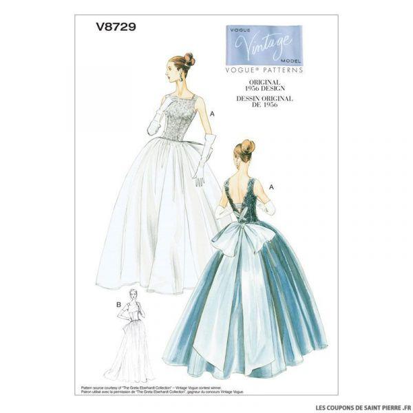 Patron Vogue V8729 : Robe et jupon