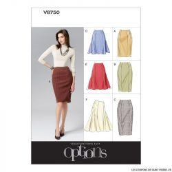 Patron Vogue V8750 : Jupe