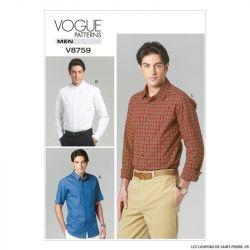 Patron Vogue V8759 : Chemise Homme