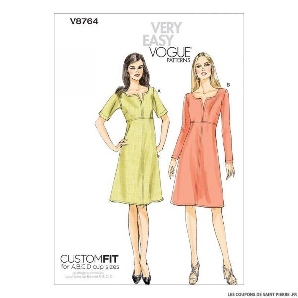 Patron Vogue V8764 : Robe
