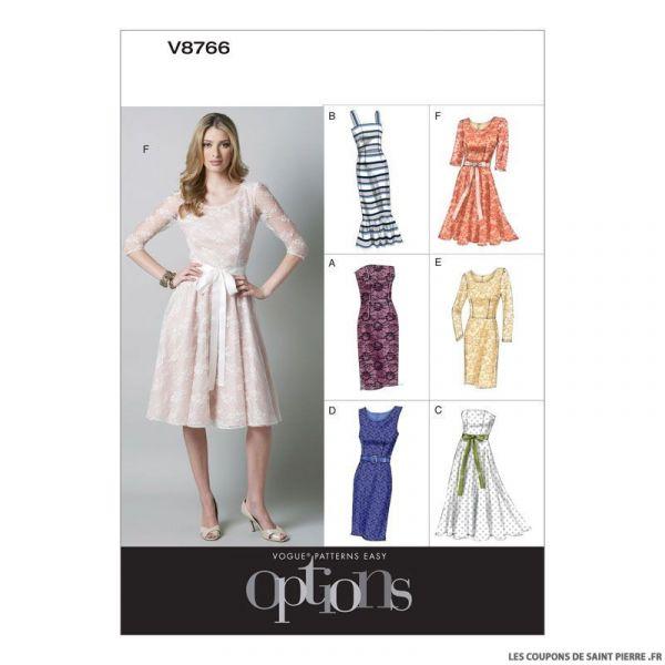 Patron Vogue V8766 : Robe