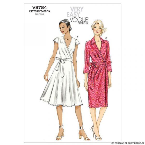 Patron Vogue V8784 : Robe