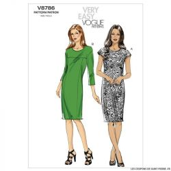 Patron Vogue V8786 : Robe
