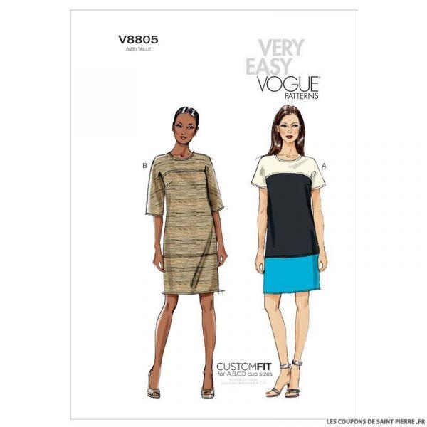 Patron Vogue V8805 : Robe