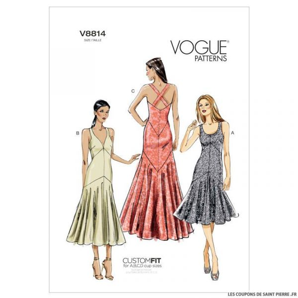 Patron Vogue V8814 : Robe