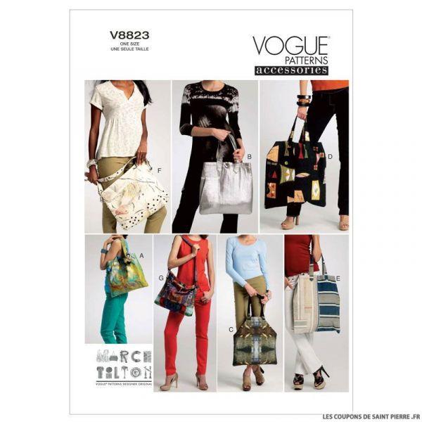 Patron Vogue V8823 : Sac à main