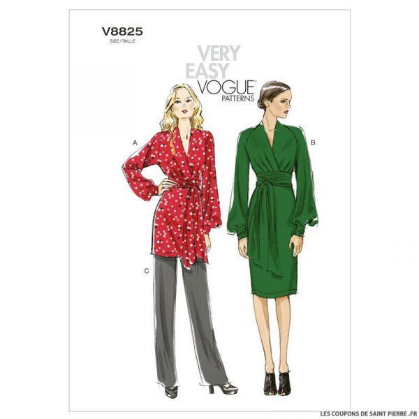 Patron Vogue V8825 : Tunique, robe et pantalon