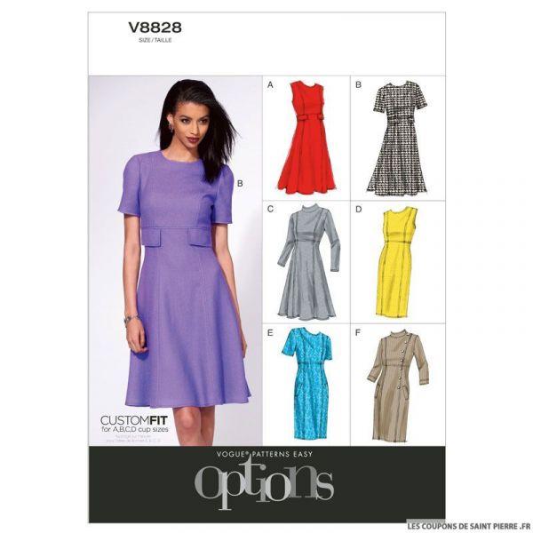 Patron Vogue V8828 : Robe