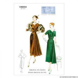 Patron Vogue V8850 : Robe et ceinture