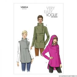 Patron Vogue V8854 : Tunique