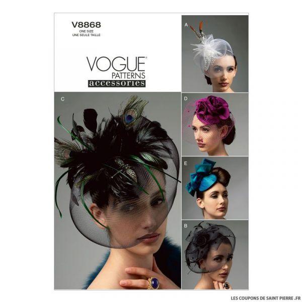 Patron Vogue V8868 : Chapeaux