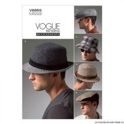 Patron Vogue V8869 : Chapeaux Homme