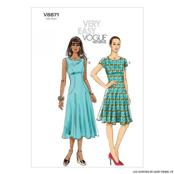 Patron Vogue V8871 : Robe