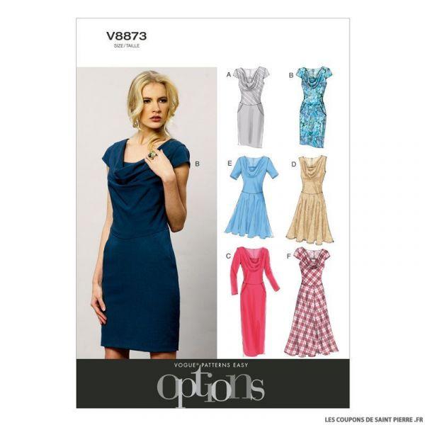 Patron Vogue V8873 : Robe