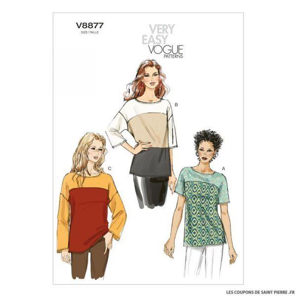 Patron Vogue V8877 : Haut