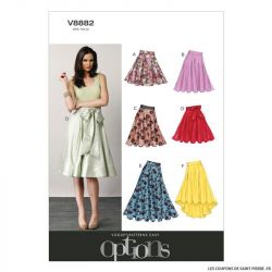 Patron Vogue V8882 : Jupe