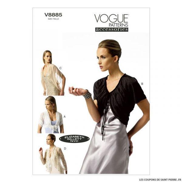 Patron Vogue V8885 : Veste