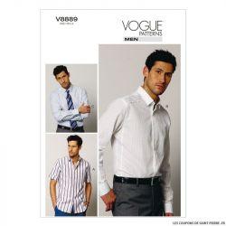 Patron Vogue V8889 : Chemise Homme