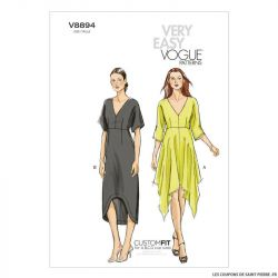 Patron Vogue V8894 : Robe