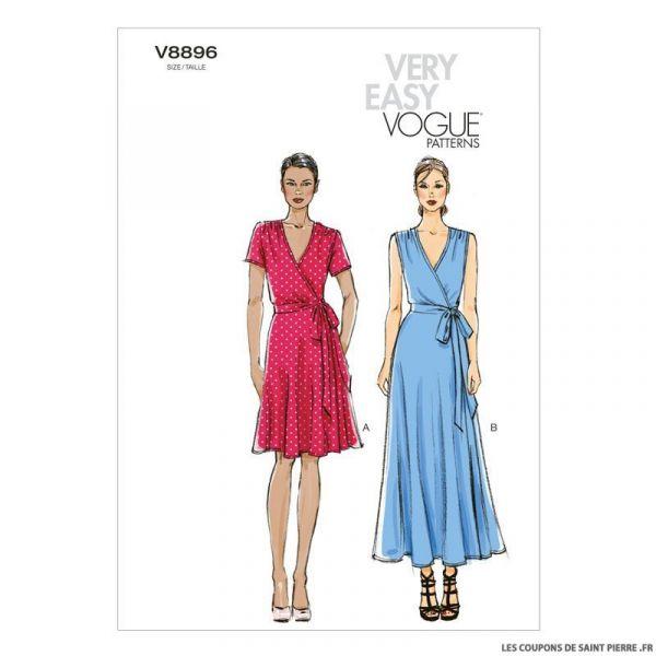 Patron Vogue V8896 : Robe
