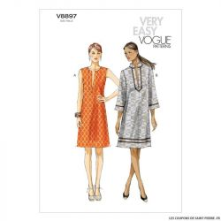 Patron Vogue V8897 : Robe
