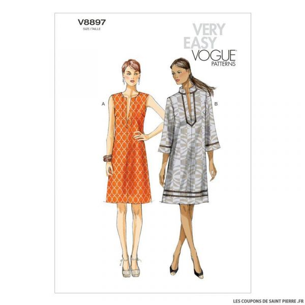 Patron Vogue V8897 : Robe