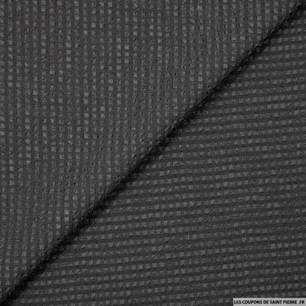 Voile gaufré polyester noir