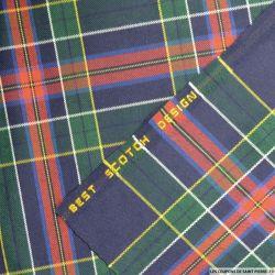 Clan écossais marine, bordeaux et vert