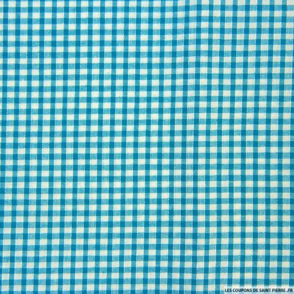 Coton Vichy 3mm turquoise