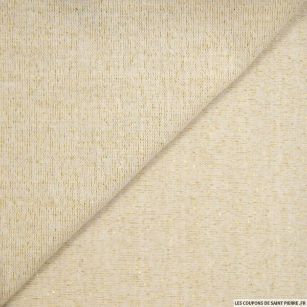 Bord côte lurex beige