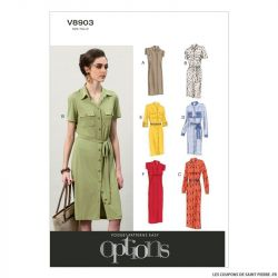 Patron Vogue V8902 : Robe