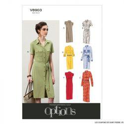 Patron Vogue V8903 : Robe et ceinture
