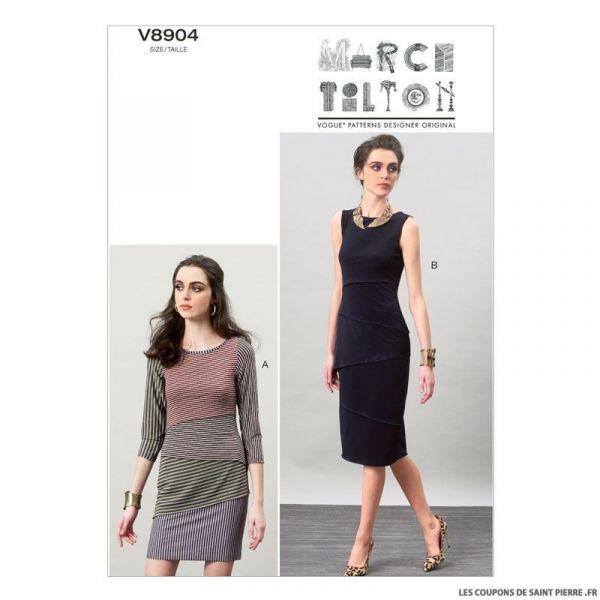 Patron Vogue V8904 : Robe élégante