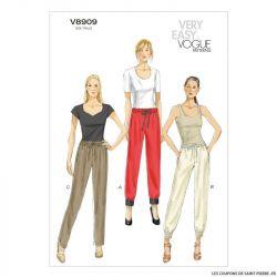 Patron Vogue V8909 : Pantalon ajusté
