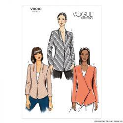 Patron Vogue V8910 : Veste semi-ajustée